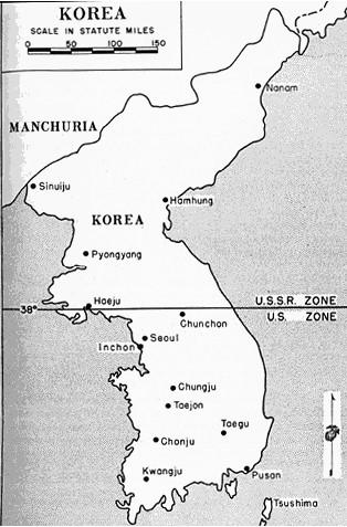 blank map korean war